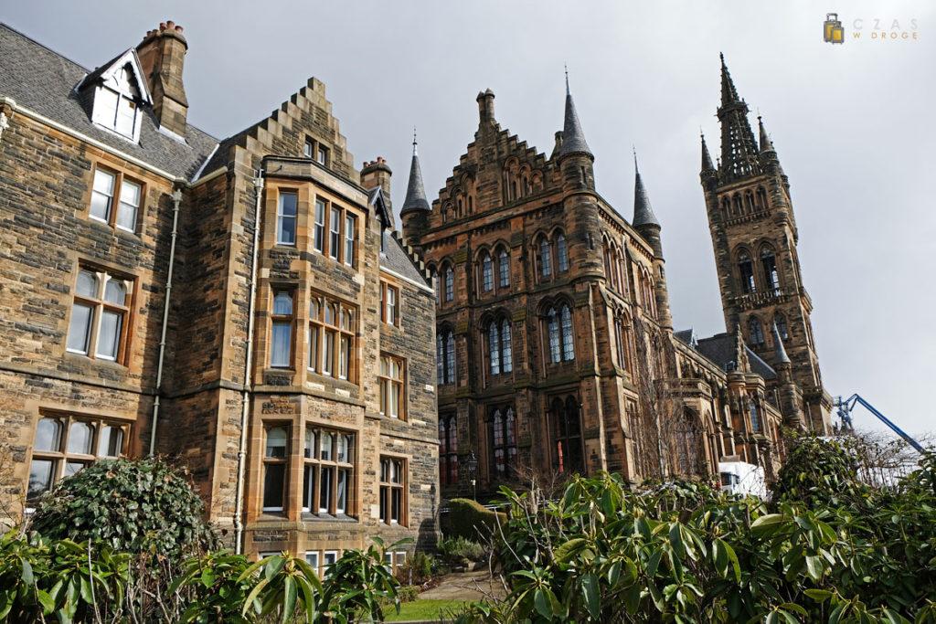 Zabudowania uniwersytetu w Glasgow