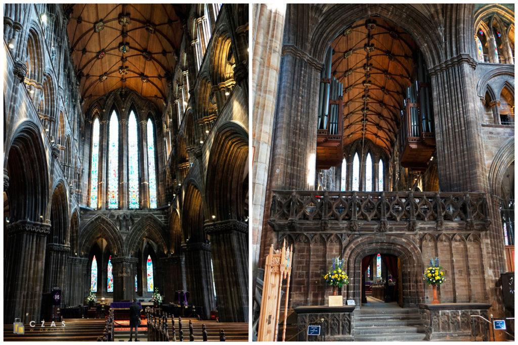 Wnętrze katedry w Glasgow