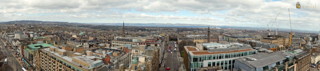 Panorama Edynburga ze szczytu Scott Monument