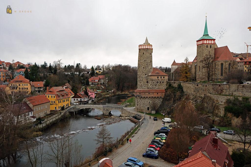 Widok na Budziszyn z Friedensbrücke