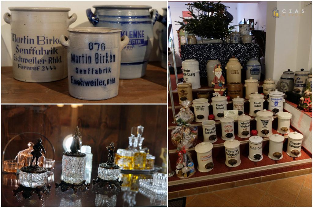 Część eksponatów w niewielkim muzeum musztardy :)