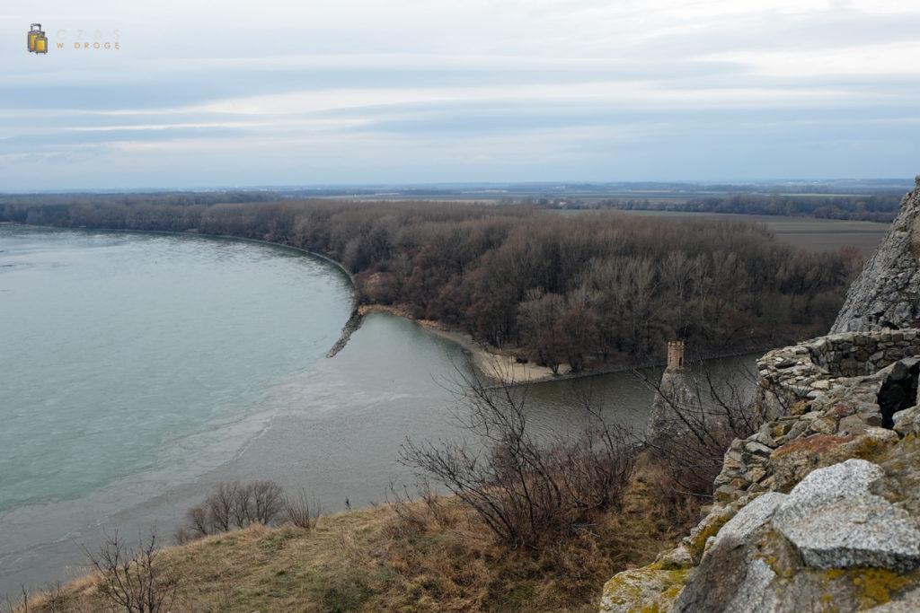 Miejsce dopływu Morawy do Dunaju